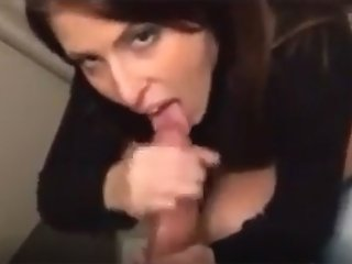 French MILF giving blowjob...