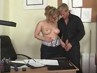 Office sex with hot mature...